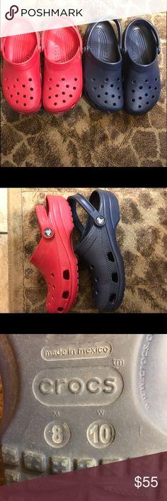 67a6ee9a25d0 Bundle of crocs size 8 men s or 10 women s Bundle of crocs❤ red