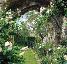 Amberley Castle Gardens, Arundel, Sussex, England