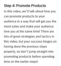 promote products