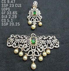 Jewellery Designs: Trendy Diamond Choker 7 Lakhs Worth