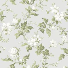 Ashford House Blooms Magnolia Wallpaper by York Unique Wallpaper, Red Wallpaper, Pattern Wallpaper, Luxury Wallpaper, Wallpaper Backgrounds, Beige Background, Background Vintage, Ashford House, Magnolia Wallpaper