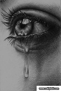 Tears by crying eyes, eye sketch, drawing sketches, cool sketches, art Eye Drawing Tutorials, Drawing Techniques, Real Techniques, Art Tutorials, Drawing Ideas, Drawing Tips, Pencil Art Drawings, Art Drawings Sketches, Eye Drawings