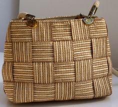 Italian Vintage Woven Shoulder Bag