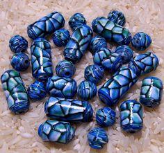 Paper Beads  Ocean Blue by deeann7 on Etsy, $11.00
