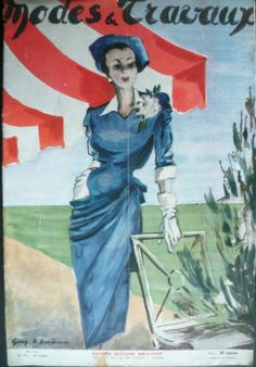 Fashion Couture Modes et Travaux mai 1947 n°559 Robert PIGUET