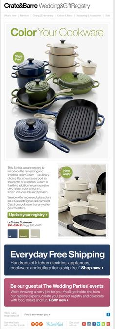 Crate & Barrel Wedding Registry Email Email Marketing Design, Email Design, Crate And Barrel, Crates, Graphic Design, House, Wedding, Life, Valentines Day Weddings