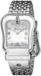 Fendi Women's F381014500D1 Analog Display Swiss Quartz Silver Watch