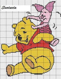 Winnie the Pooh piglet x-stitch Cross Stitch Cards, Cross Stitch Rose, Cross Stitch Baby, Cross Stitch Animals, Cross Stitch Kits, Cross Stitch Designs, Cross Stitching, Cross Stitch Embroidery, Disney Crochet Patterns
