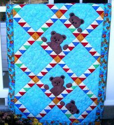 Pictures of Baby Quilts for Boys: Peek-a-Boo Bears Quilt