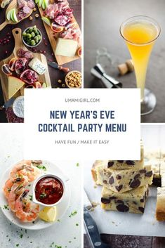 A simple — and simply perfect — menu and game plan for an easy New Year's Eve party. Here's a simple New Year's Eve menu and game plan for a great cocktail party. It's got our favorite tried-and-true recipes and entertaining tips and tricks. New Years Appetizers, Appetizers For Party, Appetizer Recipes, Best Shrimp Cocktail Recipe, Cocktail Recipes, New Year's Eve Cocktails, Easy Cocktails, New Years Eve Menu, Cocktail Party Food