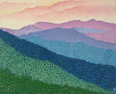 Mountain Music Original Oil Painting Sunrise The Great Smokey Mountains Abstract Nature Sunset Textured Landscape Art