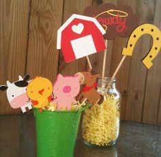 Farm Yard Friends Centerpieces  Farm Birthday by LittlePixieStix, $12.00