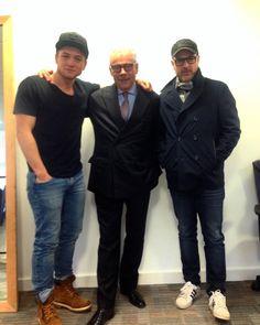 Mr. Taron Egerton, Mr. George Glasgow Snr & Mr. Matthew Vaughn on set of Kingsman 2 in London - May 2016