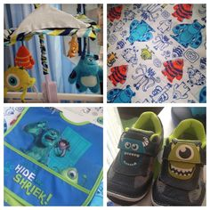 Love this! Think this is going to be Elijah's Room!  Disney Baby Monsters Inc. Nursery Bedding and Theme