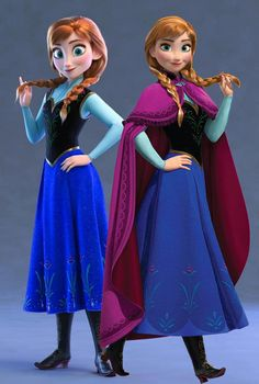 "Anna design comparison: left side in ""Ralph Breaks the Internet"" / right side Or. - Anna design comparison: left side in ""Ralph Breaks the Internet"" / right side Original Frozen m - Anna Disney, Disney Frozen Elsa, Disney Girls, Arendelle Frozen, Frozen Anime, Olaf Frozen, Frozen And Tangled, Frozen Movie, Frozen Elsa And Anna"