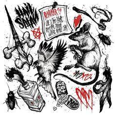Tattoo Mafia, 4 Tattoo, Tattoo Fonts, Sketch Tattoo Design, Tattoo Sketches, Tattoo Drawings, Dark Art Tattoo, Tattoo Flash Art, Mini Tattoos