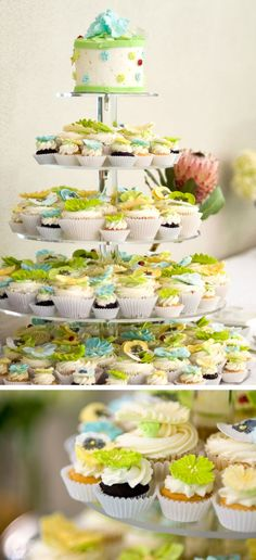 I love the idea of having different sized cupcakes since there will be many little hands