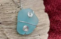 How to Wire Wrap Sea Glass Jewelry - The Beading Gem's Journal
