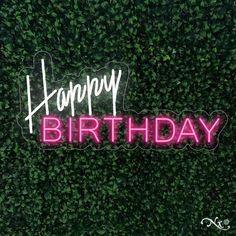 Happy Birthday Neon Sign Flex Light Sign Led Neon Custom Party | Etsy
