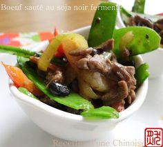 Recettes d'une Chinoise: Boeuf sauté au soja noir fermenté (DouChi) 豆豉牛柳 dò...