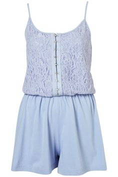 Blue Lace Playsuit  Lovely holiday cover-up!