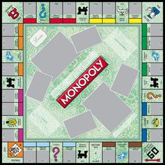 custom monopoly board template - monopoly game templates on pinterest monopoly game