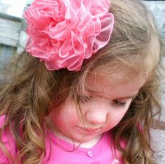 Make HairBows Now Learn How Boutique wool fabric flower rose tulle lace headbands hairclips (324)
