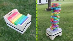 Another DIY Idea For Outdoor Jenga! Pick your paint colors out at  Gill-Roy's Hardware!