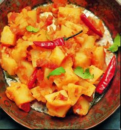 This vibrant Alloo Curry (Potato Curry) makes a great meal for when you're short of time. It's not only great to enjoy in the evening, but also makes a tasty lunch or breakfast (serve on toasted bread with a fried egg on top). The recipe can be found in  Curry: Fragrant Dishes From India, Thailand, Vietnam & Indonesia.