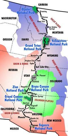 An Optimized Road Trip Of All The National Parks Love Camping - Us map national parks road reip