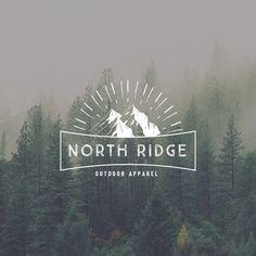 Rugged Logo Design. Outdoors Logo. Hipster Logo. Barber Logo. Manly Logo. Masculine Logo. Mountain Logo. Mens Logo. Round Logo