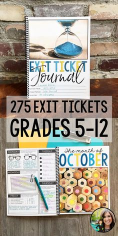 Exit Tickets | Exit Ticket Journal | Student Reflection | 275 Exit Tickets for the ENTIRE School Year | Engaging, unique prompts to assess student comprehension | ANY subject area grades 5-12 | Upper elementary, middle school, and high school