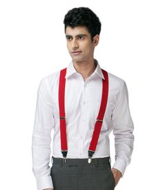 Lino Perros Fashionable Red Suspender