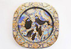 Rosenthal Bjorn Wiinblad Christmas Glass Plate by SwedishHeritage, $80.00