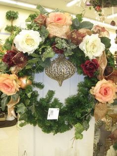 Holiday Wreath From the Holiday Romance Theme at Your Christmas Shop at Stauffers of Kissel Hill Garden Centers. (www.skh.com)