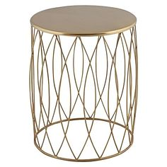 Instil art deco elegance in your home with the intricate detailing and luxe looks of the practical Alfie Gold Side Table from j.elliot HOME.