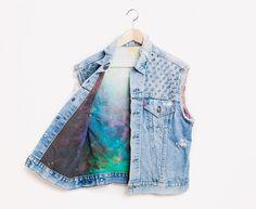 RWDZ x Levis Galaxy Studded Vest // RUNWAYDREAMZ