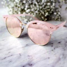 Rose mirrored sunnies