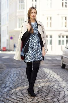 Ingrid Holm - Print set and over knee boots