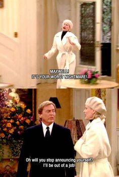 "His timing could make anyone jealous. | 10 Times Niles From ""The Nanny"" Threw The Best Shade"