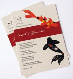 40 best wedding invitation cards images on pinterest invites printable japanese koi fish invitation by lanibluecards on etsy 6000 wedding invitation cardsinvitation stopboris Image collections