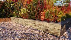 Stone Walling Naturel Grijs/Zwart 18 x 42 x 8 cm per 100 M2, Sidewalk, Garden, Garten, Side Walkway, Lawn And Garden, Walkway, Gardens, Gardening