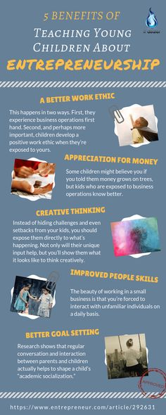 Teaching young kids about entrepreneurship is probably one of the biggest favours parents can do to their children. Because there is a long list of benefits if you decide to do so. Business Storytelling, Business Education, Teen Entrepreneurs, Entrepreneurship Education, Good Work Ethic, Business For Kids, Business Ideas, Young Children, Kids Education