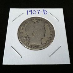 1907 D Barber 90% Silver Half Dollar .900 Fine Silver & Free USA Shipping #silver #barber #coins #c2cth