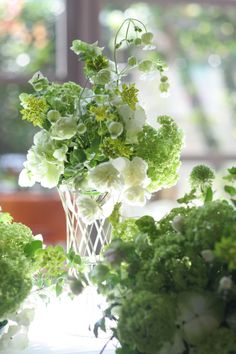 緑あふれる会場装花 グリーンベル アンカシェット様へ : 一会 ウエディングの花