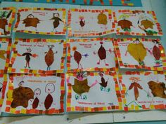 Foglie animate Leaf Crafts, Fall Crafts, Diy Crafts, Tree Study, Fall Preschool, Autumn Art, Art For Kids, Art Projects, Kindergarten