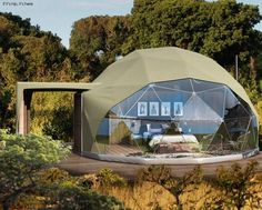 Wildlife and Wild Tents: The Highlands Ngorongoro. (Updated with new photos) Glamping, Dome Structure, Geodesic Dome Homes, Safari Adventure, Luxury Tents, Dome House, Dome Tent, House Layouts, House Design