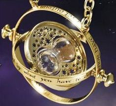 Time Turner from Harry Potter - I have never watched a Harry Potter movie or read one of the books. Because witchcraft is an abomination to God. The Bible says that the devil, satan, is the god of this age and the prince of the power of the air. They use Hollywood to show things that are going to happen.  satan deceives the whole world and God sends a powerful delusion to those who reject the Truth of His son Christ Jesus.