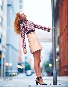 Hollie May Saker for Elle Japan (November 2014) photo shoot by Billy Kidd  #BillyKidd #Elle(Japan) #Hanjee #Hollie-MaySaker #SouhiLee