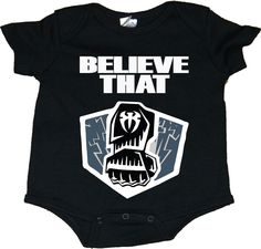 """Roman Reigns """"Believe That"""" With Punch WWE Baby Onesie Creepers in Clothing, Shoes & Accessories, Baby & Toddler Clothing, Boys' Clothing (Newborn-5T) 